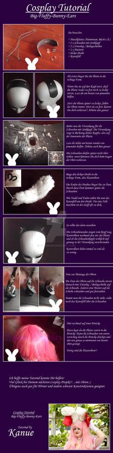 Tutorial - Big Fluffy Bunny Ears - GERMAN