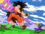 Goku y Picolo vs Raditz