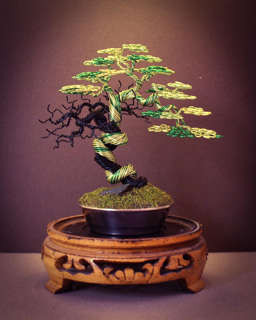 Wire bonsai tree made by steve bowen by bowenbonsai on for How to make a wire tree of life sculpture