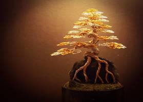 Wire Bonsai tree made by Steve Bowen  by BowenBonsai
