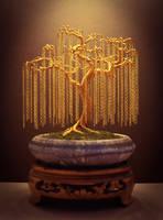 Wire Bonsai Sculpture made by Steve Bowen by BowenBonsai
