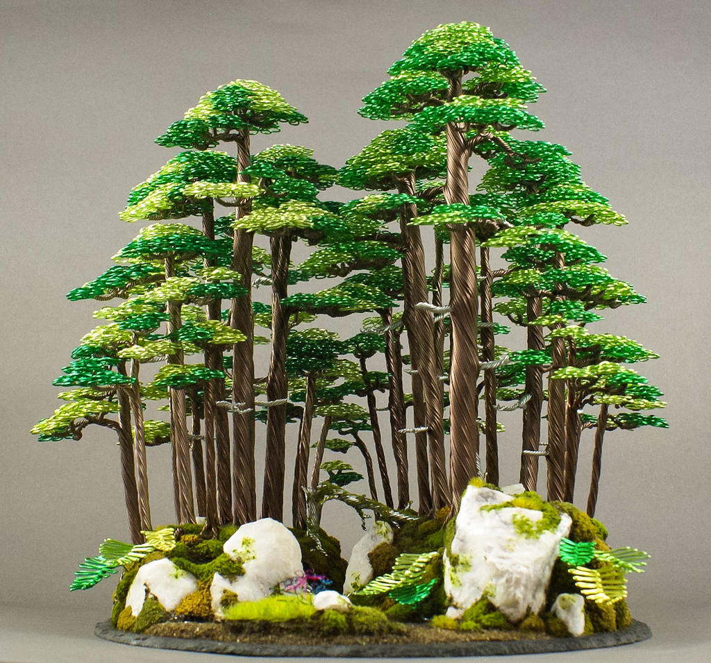 New Wire Bonsai Forest Made By Steve Bowen By Bowenbonsai On Deviantart