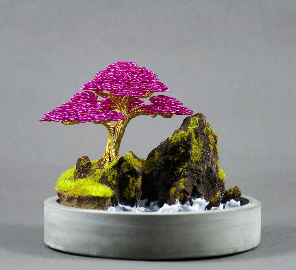 Wire Bonsai Sculpture Made By Steve Bowen By Bowenbonsai On Deviantart