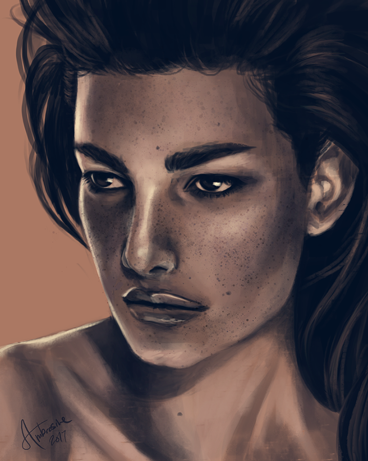 face study by UnderNeonLights