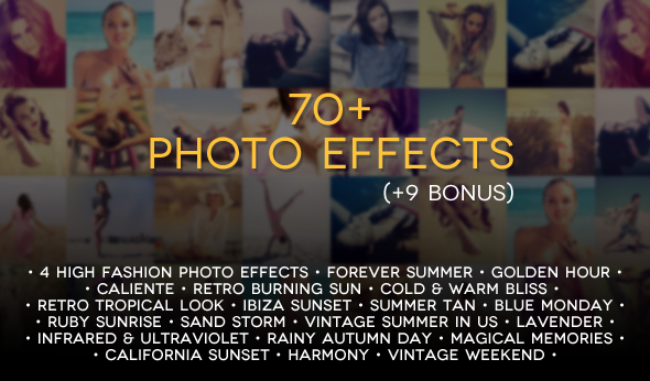 70+ Premium Photoshop Actions by zippy09