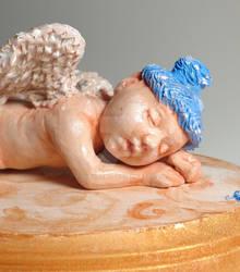 Baby Angel sculpture complete