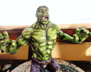 The Hulk Sculpt WIP almost finished