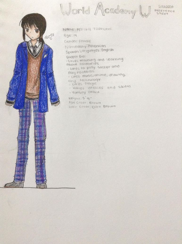 Haruka Tsunomi- World W Academy Reference by MewMewRouge
