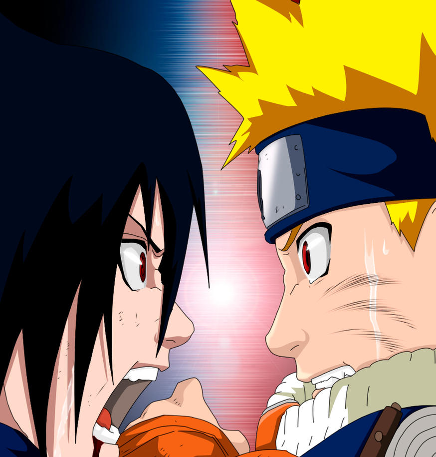 Naruto VS Sasuke by RobCV