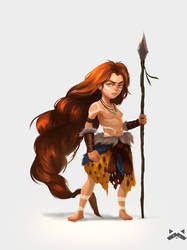 Cavewoman by RobCV