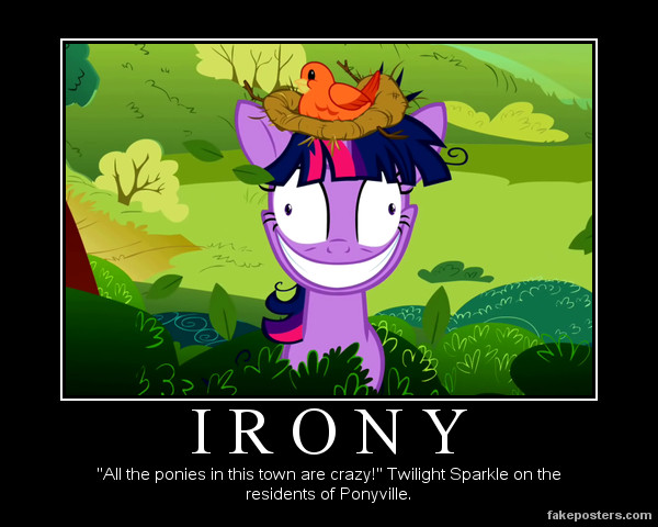 Demotivational: Irony by Mrfipp