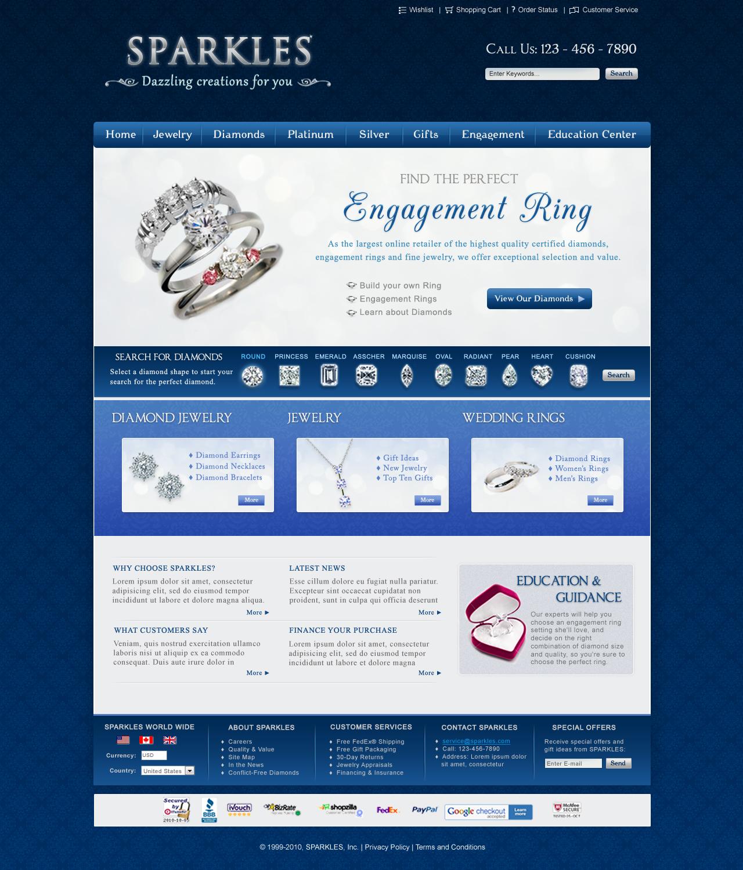 Jewelry Website Design by ujala on DeviantArt