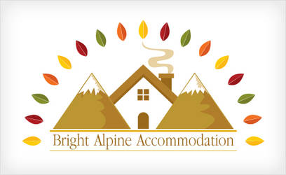 Bright Alpine Accommodation Logo by ujala