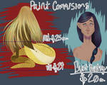 Painting commission sheet