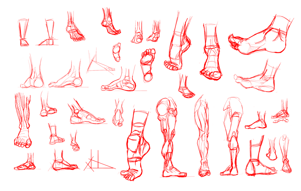 30 Day Art Hell - Day 04 - Anatomy Study - Feet by JodeOnslow on ...