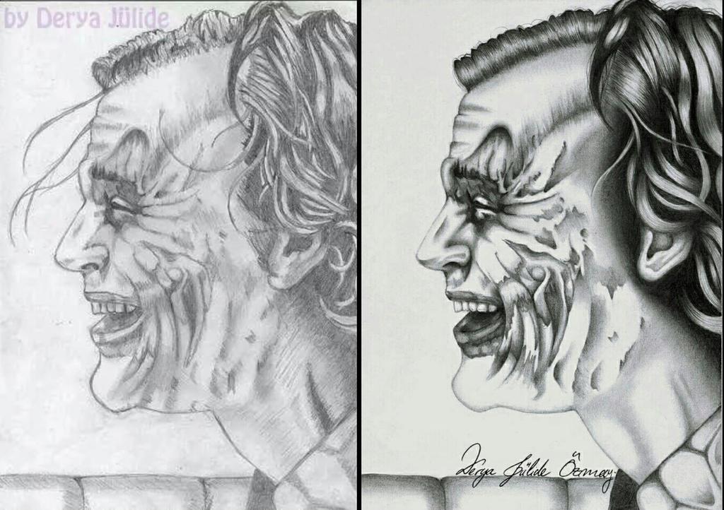The Joker before after by DeryaJuelide