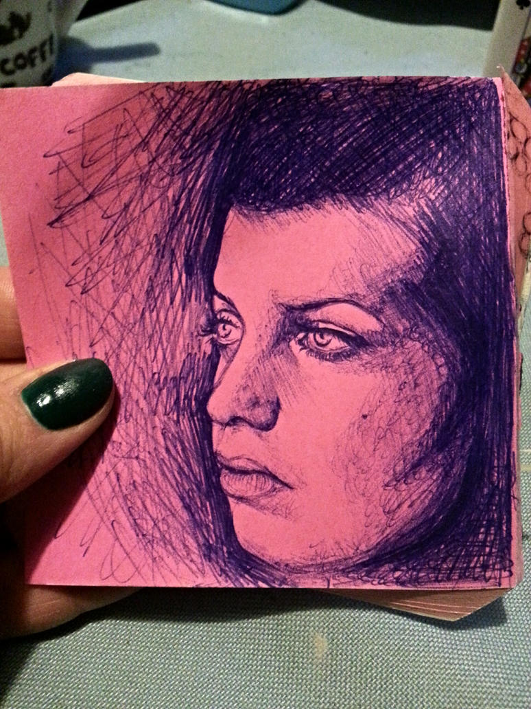 sketch self portrait by DeryaJuelide