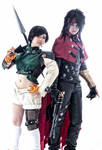 Yuffie and Vincent cosplay