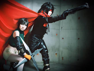 Yuffie and Vincent cosplay from FFVII by mayuyu0405