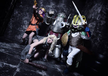 Me as Ayla with members from Chrono Trigger