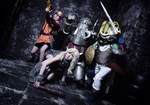 Me as Ayla with members from Chrono Trigger by mayuyu0405