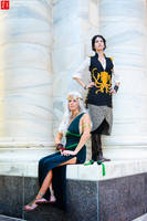 Daenerys and Asha Cosplay by bubblessoc