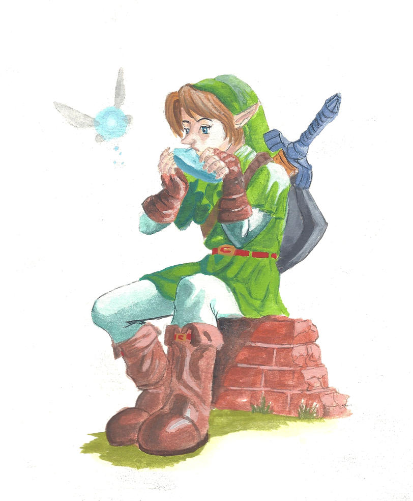 Link - Gouache by silverz777