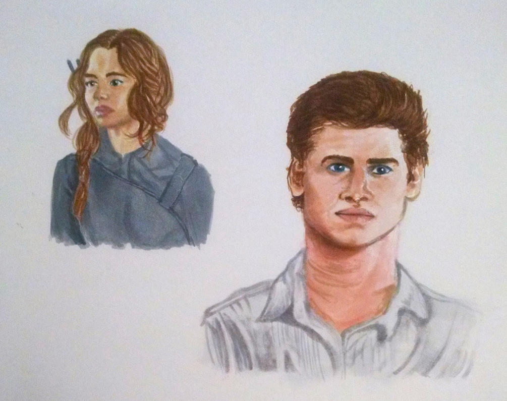 Katniss and Gale by silverz777