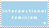 [blue] intersectional feminism stamp by popowski