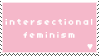 [pink] intersectional feminism stamp by popowski