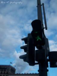 little traffic-light man. Berl by qlam0urous