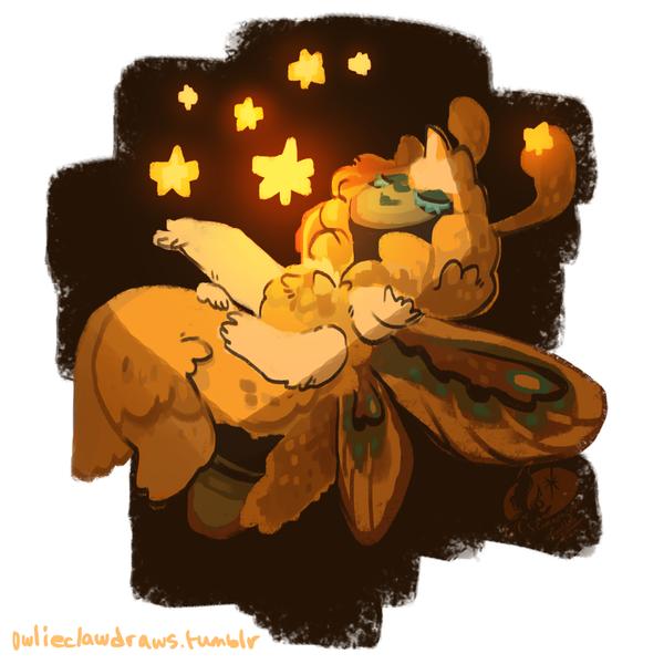 Cosmic Moth by nikiera