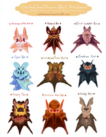 Halloween 2014 Bat Stickers by nikiera