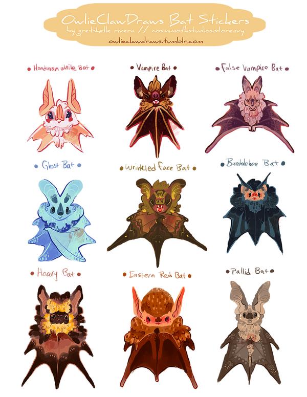 Halloween 2014 Bat Stickers by nikiera