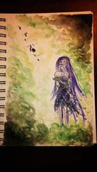 Violet Shower by iilLuminair