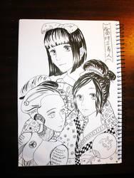 Three Beauties of Present Day by iilLuminair