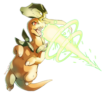 Bayleef used Solar Beam! by Edo--sama