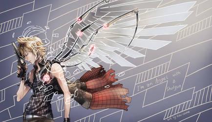 FFXV: Angel with a shotgun by Edo--sama
