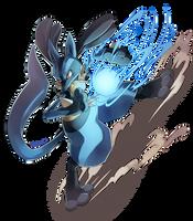 Lucario used Aura Sphere! by Edo--sama