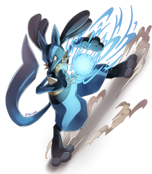 Lucario used Aura Sphere! by Edo--sama