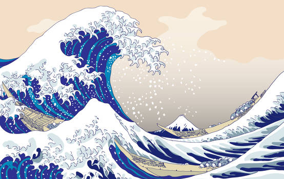 The Big Wave - Hokusai