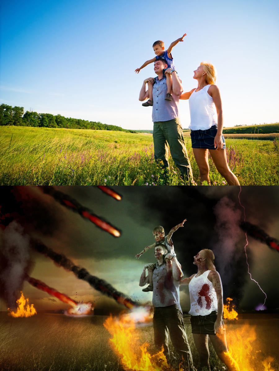 Apocalypse - Zombie Family by aabesthegreat
