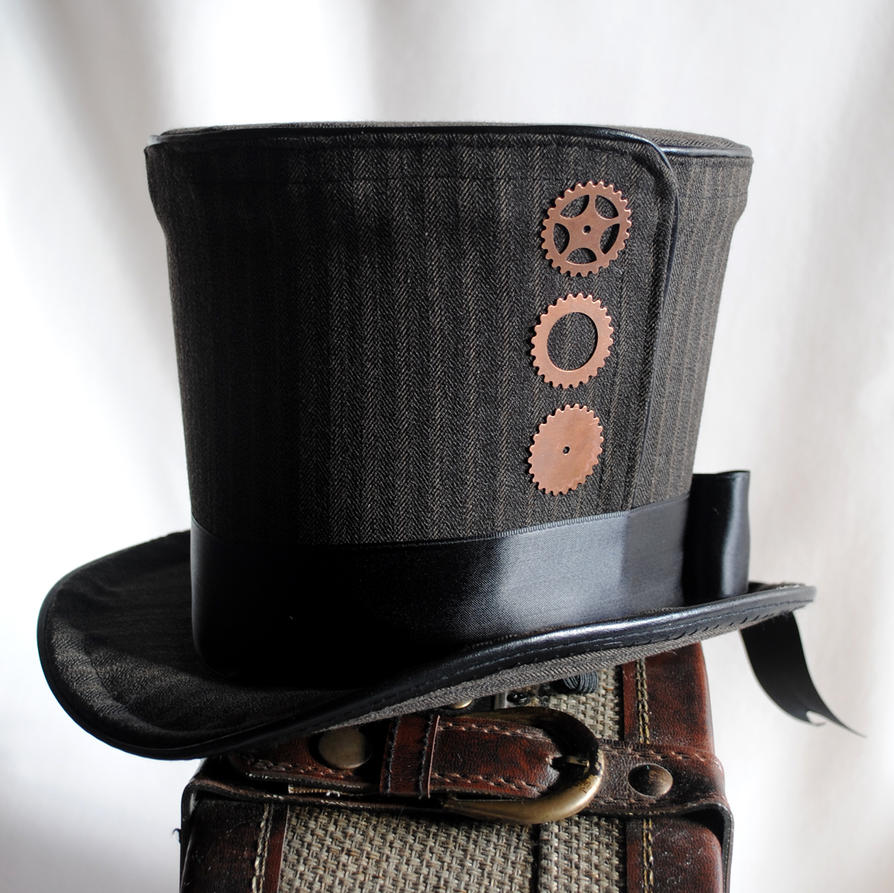 steampunk top hat by ragdolliesmadhouse on deviantart. Black Bedroom Furniture Sets. Home Design Ideas