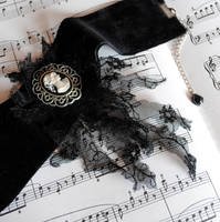 Black Velvet Gothic Choker by RagDolliesMadhouse