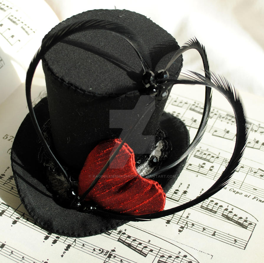 ef2ffbc248f25 Queen of Hearts Mini Top Hat by RagDolliesMadhouse on DeviantArt