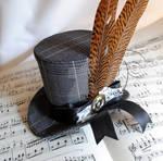 Plaid Steampunk Mini Top Hat