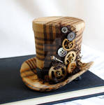 Steampunk Mini Top Hat with Gears and Buttons