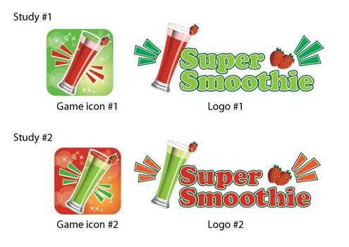 Super Smoothie App Logo Design