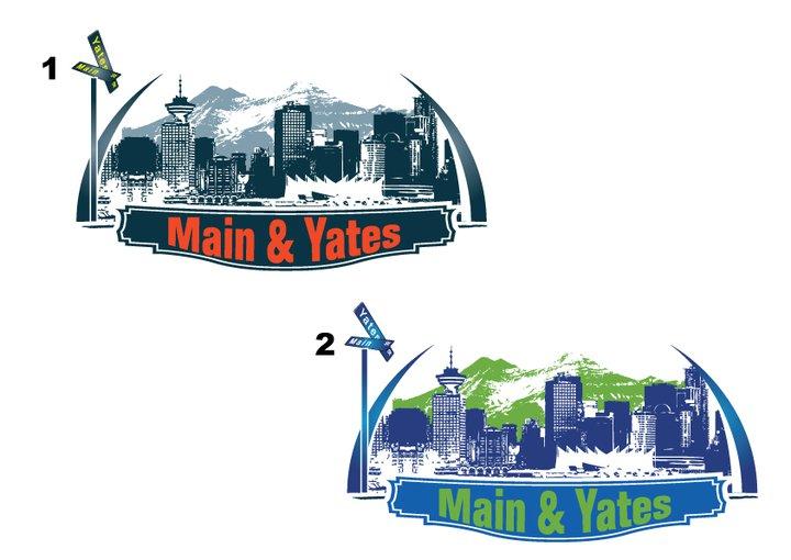Yates and Main Logo Design Variations by Click-Art