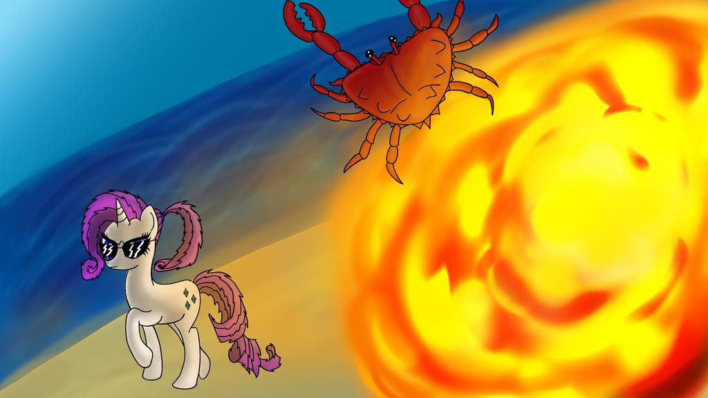 Badass Rarity, crab exterminator - NATG Day 30 by Shadowbolt82